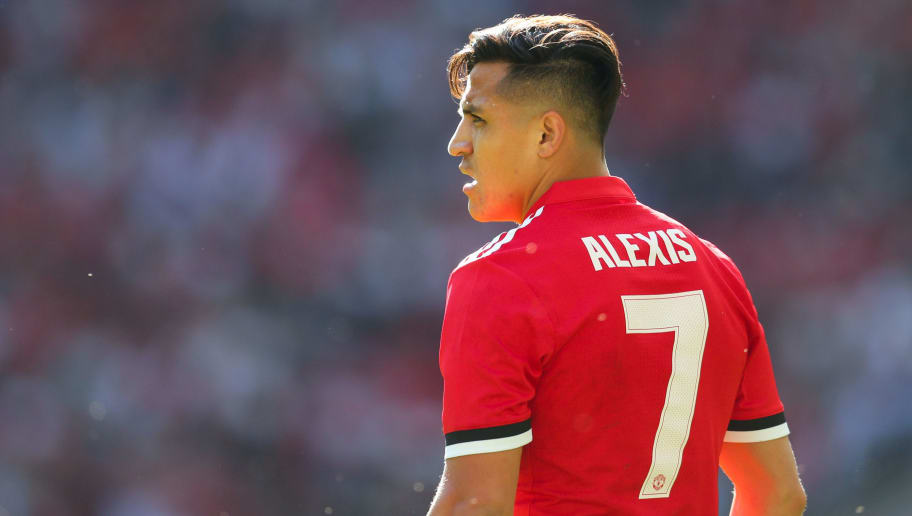 LONDON, ENGLAND - MAY 19: Alexis Sanchez of Manchester United during The Emirates FA Cup Final between Chelsea and Manchester United at Wembley Stadium on May 19, 2018 in London, England. (Photo by Catherine Ivill/Getty Images)