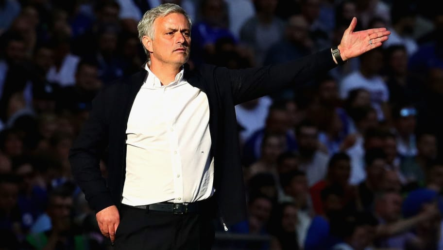 LONDON, ENGLAND - MAY 19:  Manager of Manchester United Jose Mourinho gestures from the sideline during the Emirates FA Cup Final between Chelsea and Manchester United at Wembley Stadium on May 19, 2018 in London, England.  (Photo by Chris Brunskill Ltd/Getty Images)