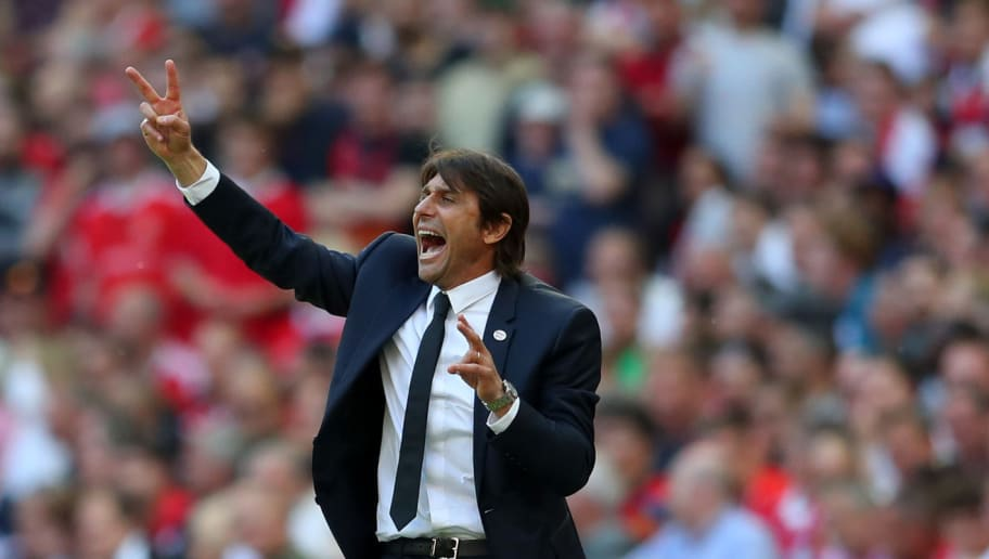 LONDON, ENGLAND - MAY 19: Antonio Conte manager / head coach of Chelsea during The Emirates FA Cup Final between Chelsea and Manchester United at Wembley Stadium on May 19, 2018 in London, England. (Photo by Catherine Ivill/Getty Images)
