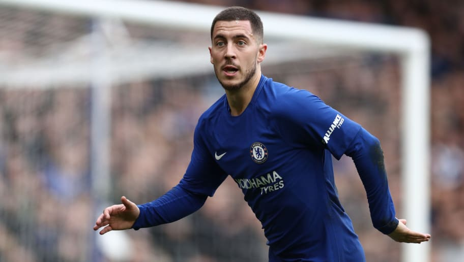 LONDON, ENGLAND - JANUARY 28: Eden Hazard of Chelsea during the Emirates FA Cup Fourth Round match between Chelsea and Newcastle United on January 28, 2018 in London, United Kingdom. (Photo by Catherine Ivill/Getty Images)