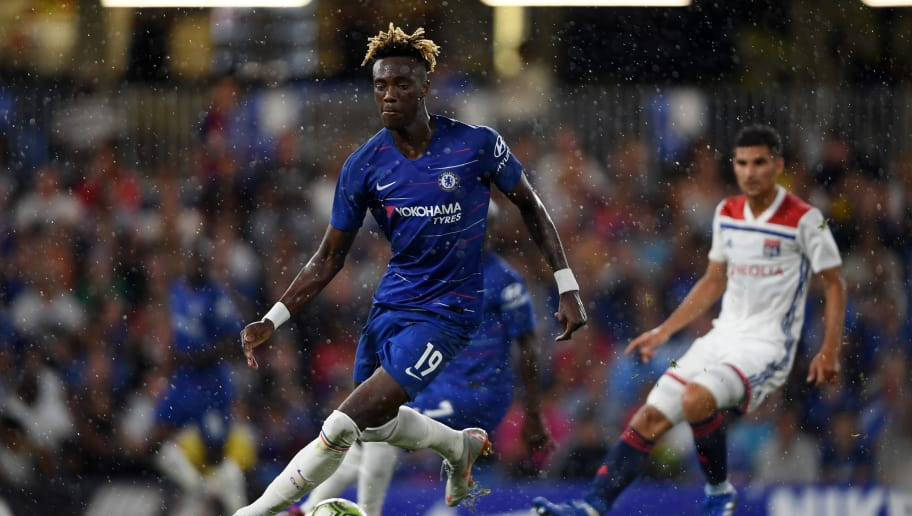 Tammy Abraham playing for Chelsea during pre-season last year.