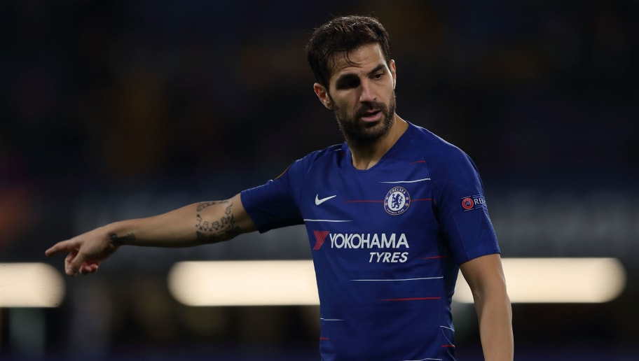 LONDON, ENGLAND - NOVEMBER 29: Cesc Fabregas of Chelsea during the UEFA Europa League Group L match between Chelsea and PAOK at Stamford Bridge on November 29, 2018 in London, United Kingdom. (Photo by James Williamson - AMA/Getty Images)