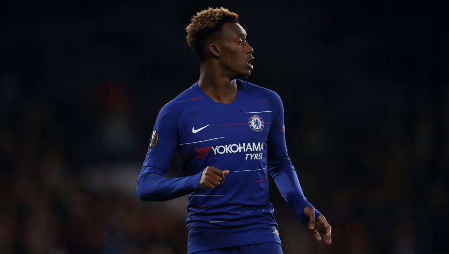 LONDON, ENGLAND - NOVEMBER 29: Callum Hudson-Odoi of Chelsea during the UEFA Europa League Group L match between Chelsea and PAOK at Stamford Bridge on November 29, 2018 in London, United Kingdom. (Photo by James Williamson - AMA/Getty Images)