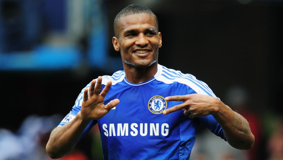 LONDON, ENGLAND - APRIL 29:  Florent Malouda of Chelsea celebrates as he scores their sixth goal during the Barclays Premier League match between Chelsea and Queens Park Rangers at Stamford Bridge on April 29, 2012 in London, England.  (Photo by Shaun Botterill/Getty Images)
