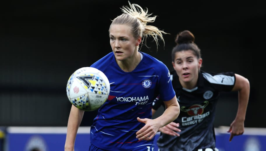 KINGSTON UPON THAMES, ENGLAND - DECEMBER 02: Magdalena Eriksson of Chelsea Women in action during the FA Women's Super League match between Chelsea and Reading at The Cherry Red Records Stadium on December 02, 2018 in Kingston upon Thames, England. (Photo by Ker Robertson/Getty Images)
