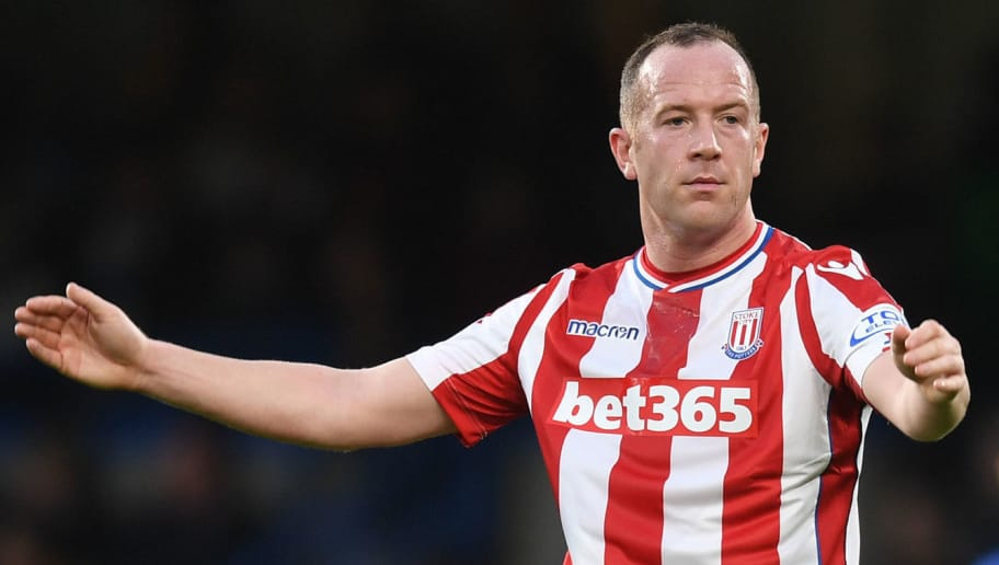 LONDON, ENGLAND - DECEMBER 30:  Charlie Adam of Stoke City reacts during the Premier League match between Chelsea and Stoke City at Stamford Bridge on December 30, 2017 in London, England.  (Photo by Michael Regan/Getty Images)