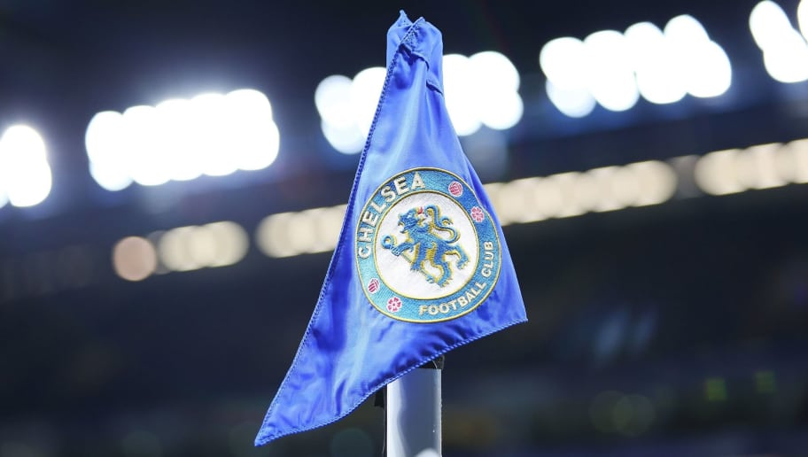 LONDON, ENGLAND - NOVEMBER 29: A general view of a corner flag at Stamford Bridge prior to kick off of the Premier League match between Chelsea and Swansea City at Stamford Bridge on November 29, 2017 in London, England. (Photo by Athena Pictures/Getty Images)