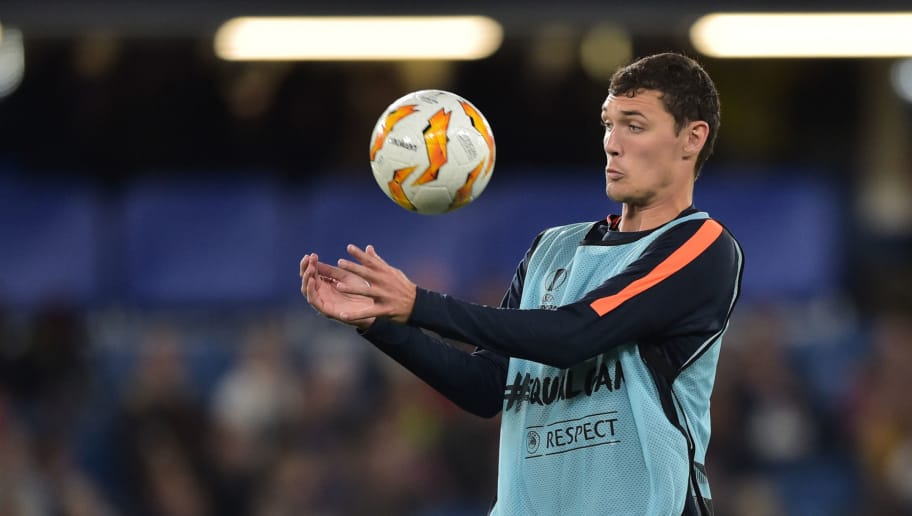 LONDON, ENGLAND - OCTOBER 04: Andreas Christensen of Chelsea controls the ball prior the UEFA Europa League Group L match between Chelsea and Vidi FC at Stamford Bridge on October 4, 2018 in London, United Kingdom. (Photo by TF-Images/Getty Images)