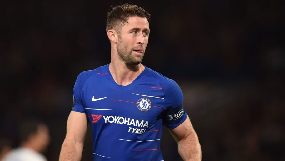 LONDON, ENGLAND - OCTOBER 04: Gary Cahill of Chelsea looks on during the UEFA Europa League Group L match between Chelsea and Vidi FC at Stamford Bridge on October 4, 2018 in London, United Kingdom. (Photo by TF-Images/Getty Images)