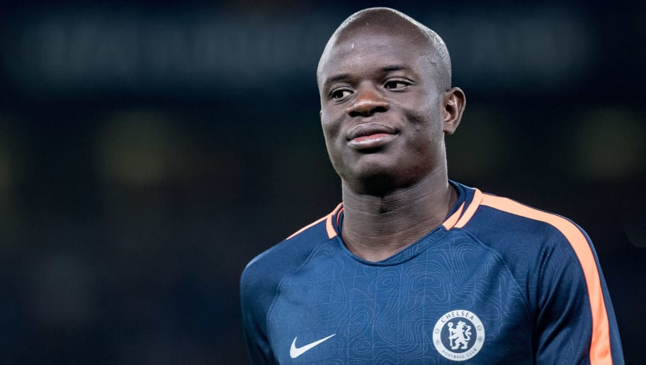 LONDON, ENGLAND - OCTOBER 04: N'Golo Kanté of Chelsea FC during the UEFA Europa League Group L match between Chelsea and Vidi FC at Stamford Bridge on October 4, 2018 in London, United Kingdom. (Photo by Sebastian Frej/MB Media/Getty Images)