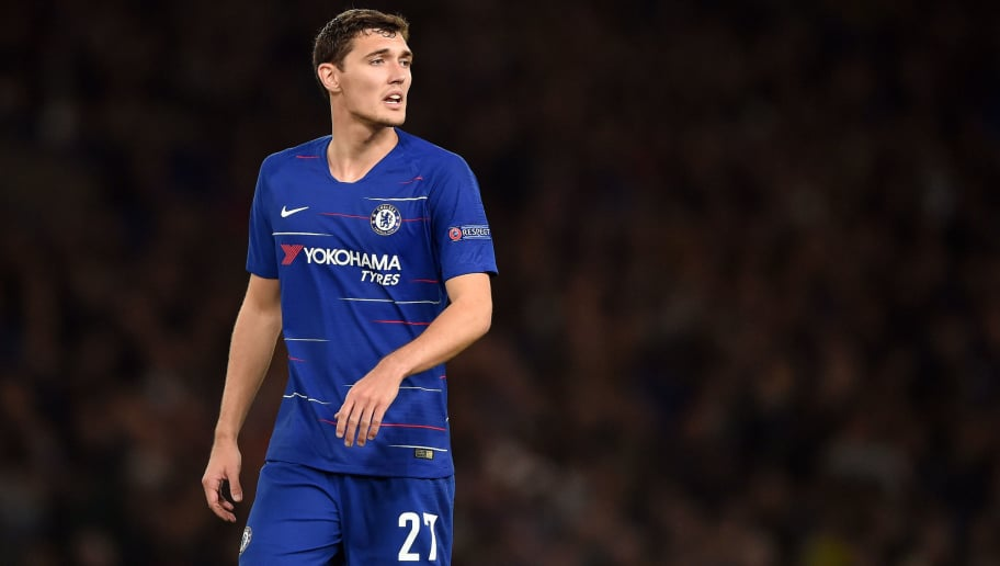 LONDON, ENGLAND - OCTOBER 04: Andreas Christensen of Chelsea looks on during the UEFA Europa League Group L match between Chelsea and Vidi FC at Stamford Bridge on October 4, 2018 in London, United Kingdom. (Photo by TF-Images/Getty Images)