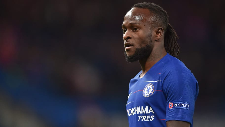 LONDON, ENGLAND - OCTOBER 04: Victor Moses of Chelsea looks on during the UEFA Europa League Group L match between Chelsea and Vidi FC at Stamford Bridge on October 4, 2018 in London, United Kingdom. (Photo by TF-Images/Getty Images)