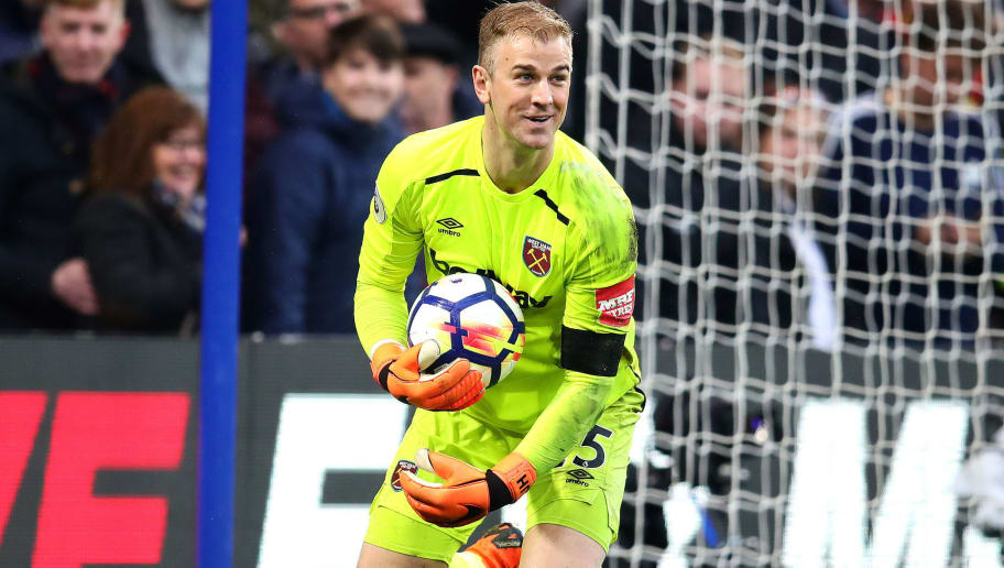 LONDON, ENGLAND - APRIL 08: Joe Hart of West Ham United in action during the Premier League match between Chelsea and West Ham United at Stamford Bridge on April 8, 2018 in London, England. (Photo by Chris Brunskill Ltd/Getty Images)