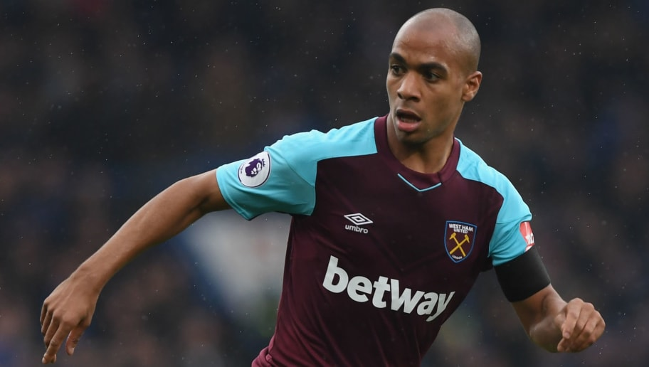 LONDON, ENGLAND - APRIL 08:  Joao Mario of West Ham United runs with the ball during the Premier League match between Chelsea and West Ham United at Stamford Bridge on April 8, 2018 in London, England.  (Photo by Shaun Botterill/Getty Images)
