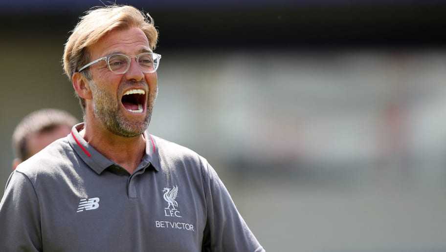 CHESTER, ENGLAND - JULY 07: Jurgen Klopp manager of Liverpool during the Pre-season friendly between Chester FC and Liverpool on July 7, 2018 in Chester, United Kingdom. (Photo by Lynne Cameron/Getty Images)