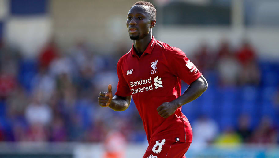 CHESTER, ENGLAND - JULY 07: Naby Keita of Liverpool during the Pre-season friendly between Chester City and Liverpool at Swansway Chester Stadium on July 7, 2018 in Chester, United Kingdom. (Photo by Malcolm Couzens/Getty Images)