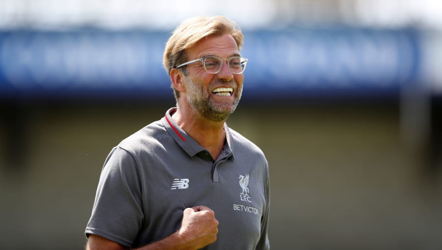 CHESTER, ENGLAND - JULY 07: Jurgen Klopp manager of Liverpool before the Pre-season friendly between Chester FC and Liverpool on July 7, 2018 in Chester, United Kingdom. (Photo by Lynne Cameron/Getty Images)