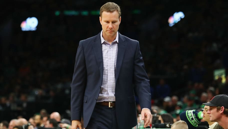 BOSTON, MA - NOVEMBER 14:  Head coach Fred Hoiberg of the Chicago Bulls reacts during the second half against the Boston Celtics at TD Garden on November 14, 2018 in Boston, Massachusetts.  (Photo by Tim Bradbury/Getty Images)