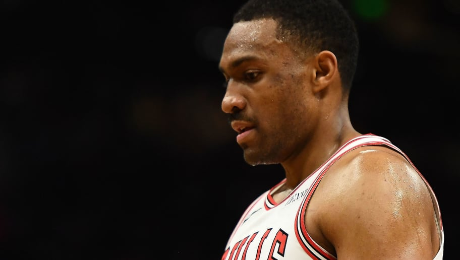 MILWAUKEE, WISCONSIN - NOVEMBER 16:   Jabari Parker #2 of the Chicago Bulls walks backcourt during a game against the Milwaukee Bucks at Fiserv Forum on November 16, 2018 in Milwaukee, Wisconsin. NOTE TO USER: User expressly acknowledges and agrees that, by downloading and or using this photograph, User is consenting to the terms and conditions of the Getty Images License Agreement. (Photo by Stacy Revere/Getty Images)