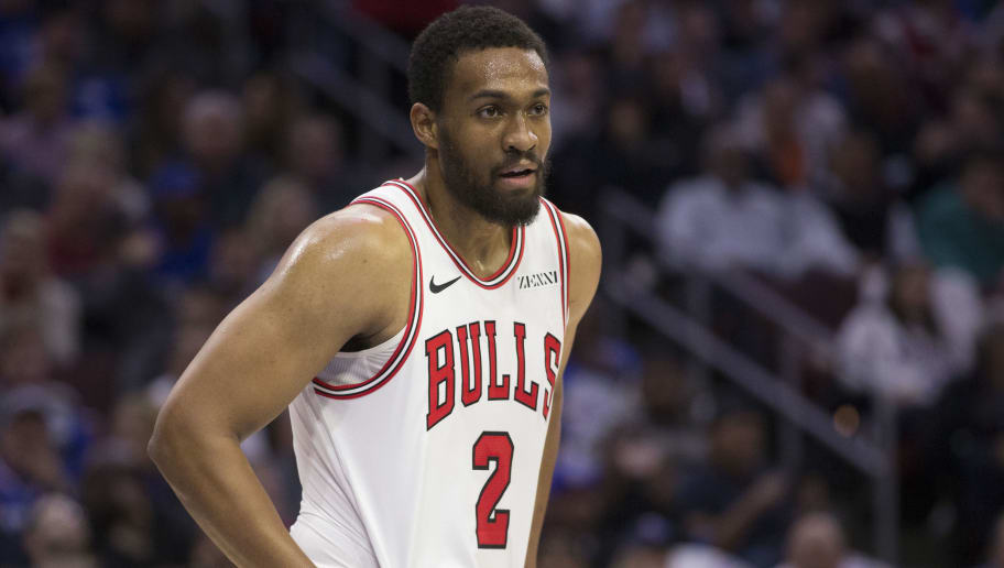 PHILADELPHIA, PA - OCTOBER 18: Jabari Parker #2 of the Chicago Bulls looks on against the Philadelphia 76ers at the Wells Fargo Center on October 18, 2018 in Philadelphia, Pennsylvania. NOTE TO USER: User expressly acknowledges and agrees that, by downloading and or using this photograph, User is consenting to the terms and conditions of the Getty Images License Agreement. (Photo by Mitchell Leff/Getty Images)