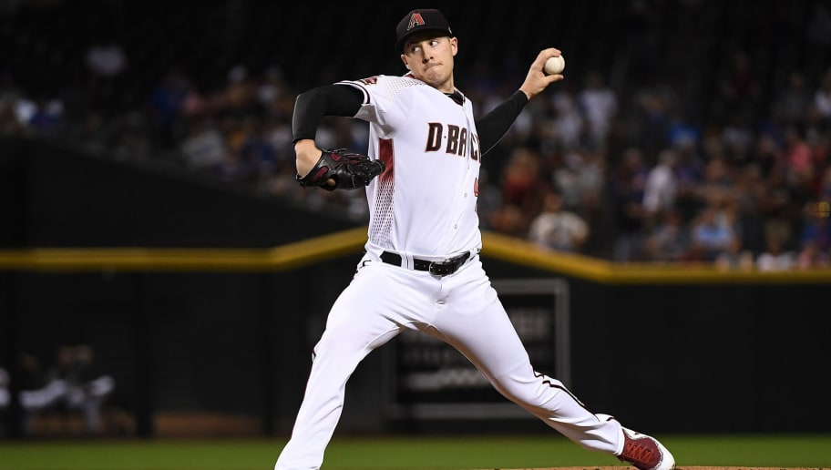 PHOENIX, AZ - SEPTEMBER 17:  Patrick Corbin #46 of the Arizona Diamondbacks delivers a pitch against the Chicago Cubs at Chase Field on September 17, 2018 in Phoenix, Arizona.  (Photo by Norm Hall/Getty Images)