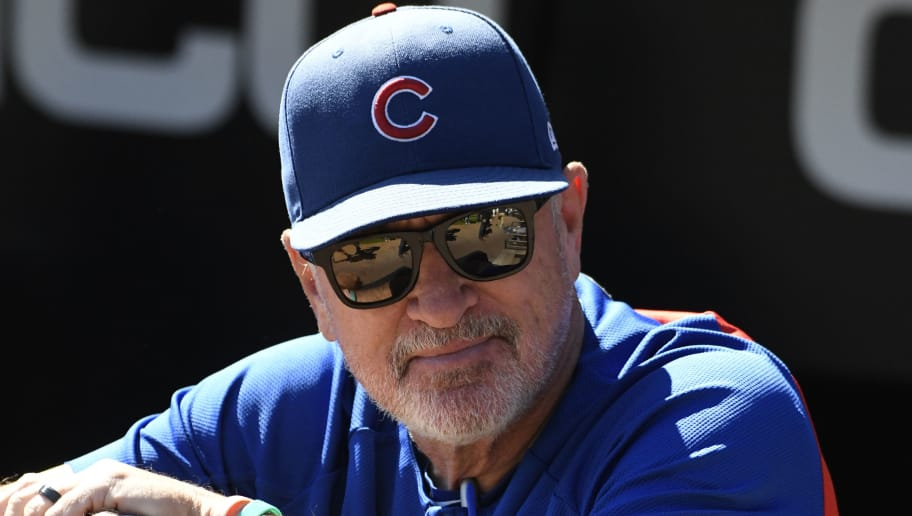 CHICAGO, IL - SEPTEMBER 23:Joe Maddon #70 of the Chicago Cubs before the game against the Chicago White Sox on September 23, 2018 at Guaranteed Rate Field  in Chicago, Illinois. The Cubs won 6-1. (Photo by David Banks/Getty Images)
