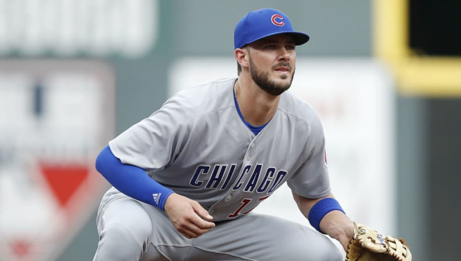 CINCINNATI, OH - JUNE 21: Kris Bryant #17 of the Chicago Cubs in action at third base during a game against the Cincinnati Reds at Great American Ball Park on June 21, 2018 in Cincinnati, Ohio. The Reds won 6-2. (Photo by Joe Robbins/Getty Images)