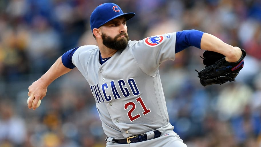 PITTSBURGH, PA - AUGUST 18: Tyler Chatwood #21 of the Chicago Cubs delivers a pitch in the first inning during the game against the Pittsburgh Pirates at PNC Park on August 18, 2018 in Pittsburgh, Pennsylvania. (Photo by Justin Berl/Getty Images)