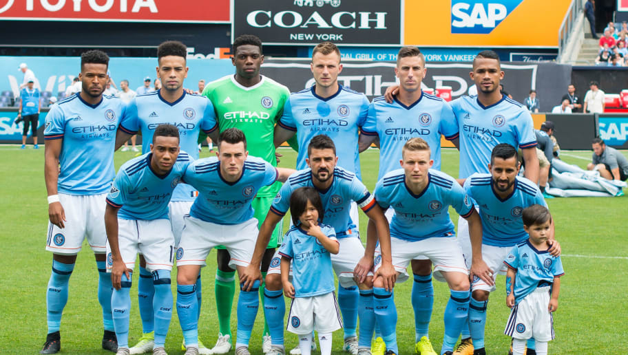 NEW YORK – JULY 22: New York City FC players pose for a team photo before the match against Chicago Fire at Yankee Stadium on July 22, 2017 in New York City.  New York City FC defeats Chicago Fire 2-1. (Photo by Michael Stewart/Getty Images)