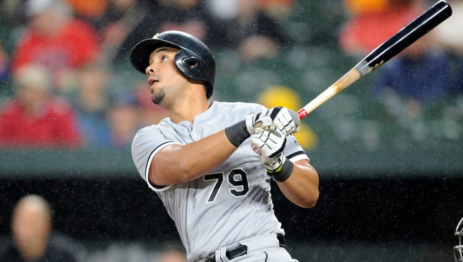 BALTIMORE, MD - SEPTEMBER 14:  Jose Abreu #79 of the Chicago White Sox bats against the Baltimore Orioles at Oriole Park at Camden Yards on September 14, 2018 in Baltimore, Maryland.  (Photo by G Fiume/Getty Images)