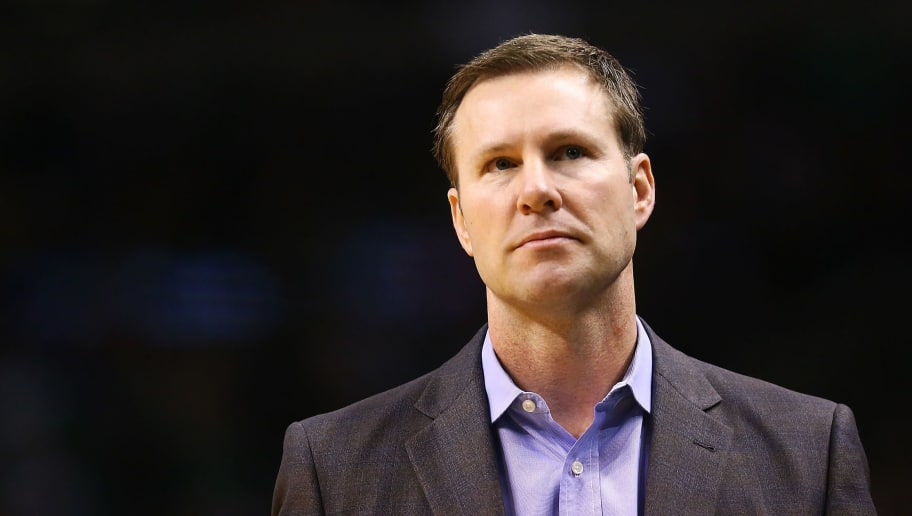 BOSTON, MA - APRIL 6:  Fred Hoiberg head coach of the Chicago Bulls looks on during a game against the Boston Celtics at TD Garden on April 6, 2018 in Boston, Massachusetts. NOTE TO USER: User expressly acknowledges and agrees that, by downloading and or using this photograph, User is consenting to the terms and conditions of the Getty Images License Agreement. (Photo by Adam Glanzman/Getty Images)