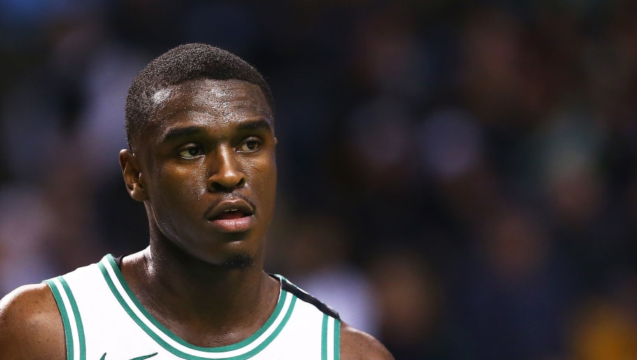 BOSTON, MA - APRIL 6:  Jabari Bird #26 of the Boston Celtics looks on during a game against the Chicago Bulls at TD Garden on April 6, 2018 in Boston, Massachusetts. NOTE TO USER: User expressly acknowledges and agrees that, by downloading and or using this photograph, User is consenting to the terms and conditions of the Getty Images License Agreement. (Photo by Adam Glanzman/Getty Images)