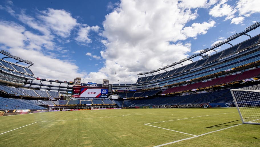 FOXBOROUGH, MASSACHUSETTS - JUNE 10:  General view of  Gillette Stadium prior to a group D match between Chile and Bolivia at Gillette Stadium as part of Copa America Centenario US 2016 on June 10, 2016 in Foxborough, Massachusetts, US. (Photo by Billie Weiss/LatinContent/Getty Images)