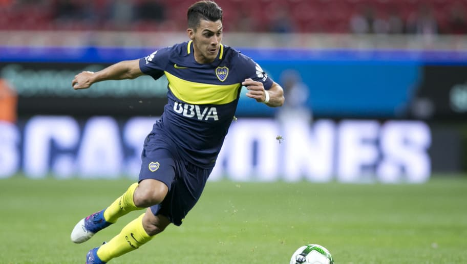 GUADALAJARA, MEXICO - FEBRUARY 02:  Cristian Pavón of Boca Juniors drives the ball during a friendly match between Chivas and Boca Juniors at Chivas Stadium on February 02, 2017 in Zapopan, Mexico. (Photo by Refugio Ruiz/LatinContent/Getty Images)
