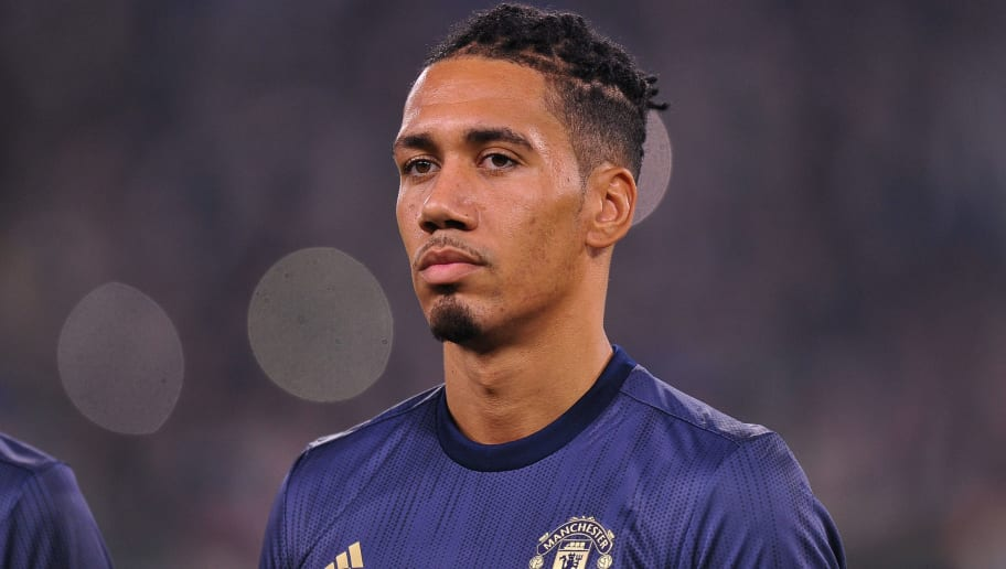 TURIN, ITALY - NOVEMBER 07: Chris Smalling of Manchester United looks on during the Group H match of the UEFA Champions League between Juventus and Manchester United at  on November 7, 2018 in Turin, Italy. (Photo by Norbert Barczyk/PressFocus/MB Media/Getty Images)