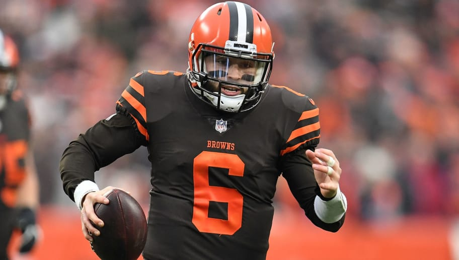 CLEVELAND, OH - DECEMBER 23:  Baker Mayfield #6 of the Cleveland Browns carries the ball during the fourth quarter against the Cincinnati Bengals at FirstEnergy Stadium on December 23, 2018 in Cleveland, Ohio. (Photo by Jason Miller/Getty Images)