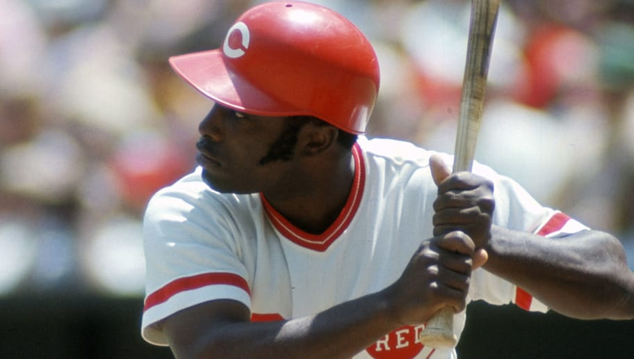 CINCINNATI, OH - CIRCA 1977: Second baseman Joe Morgan #8 of the Cincinnati Reds bats during an Major League Baseball game circa 1977 at Riverfront Stadium in Cincinnati, Ohio. Morgan played for the Reds from 1972-79. (Photo by Focus on Sport/Getty Images)