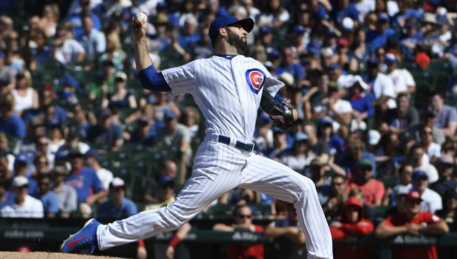 CHICAGO, IL - JULY 08: Brandon Morrow #15 of the Chicago Cubs pitches against the Cincinnati Reds during the ninth inning on July 8, 2018 at Wrigley Field  in Chicago, Illinois. The Cubs won 6-5 in ten innings. (Photo by David Banks/Getty Images)