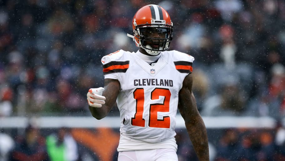 CHICAGO, IL - DECEMBER 24:  Josh Gordon #12 of the Cleveland Browns lines up for a play in the third quarter against the Chicago Bears at Solider Field on December 24, 2017 in Chicago, Illinois. (Photo by Dylan Buell/Getty Images). (Photo by Dylan Buell/Getty Images)