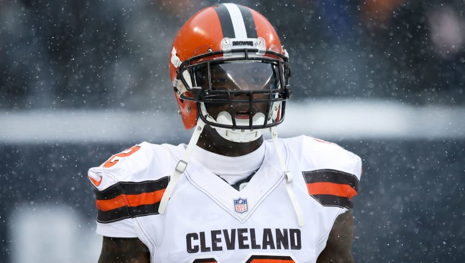 CHICAGO, IL - DECEMBER 24:  Josh Gordon #12 of the Cleveland Browns warms up before the game before the game against the Chicago Bears at Solider Field on December 24, 2017 in Chicago, Illinois. (Photo by Dylan Buell/Getty Images). (Photo by Dylan Buell/Getty Images)