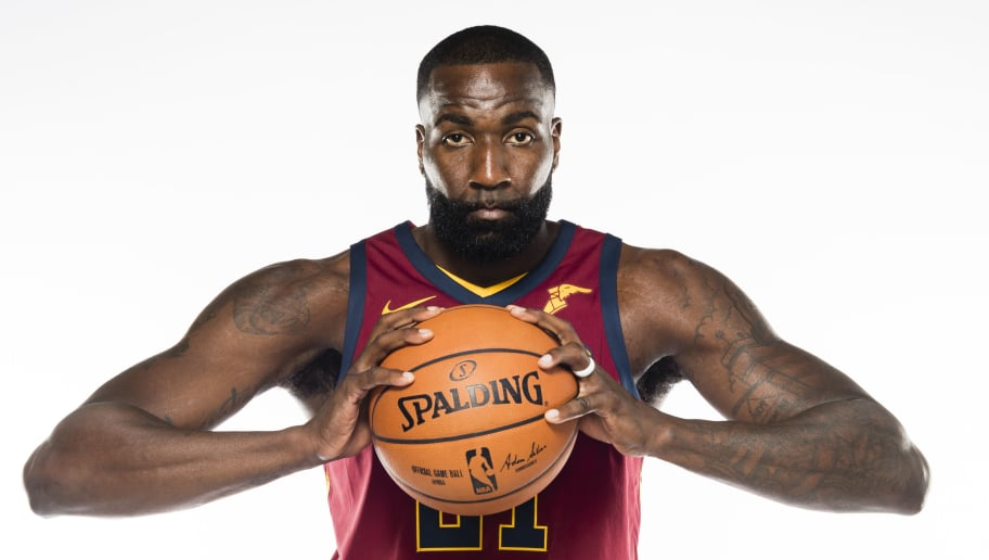 INDEPENDENCE, OH - SEPTEMBER 25: Kendrick Perkins #21 of the Cleveland Cavaliers at Cleveland Clinic Courts on September 25, 2017 in Independence, Ohio. NOTE TO USER: User expressly acknowledges and agrees that, by downloading and/or using this photograph, user is consenting to the terms and conditions of the Getty Images License Agreement. (Photo by Jason Miller/Getty Images)