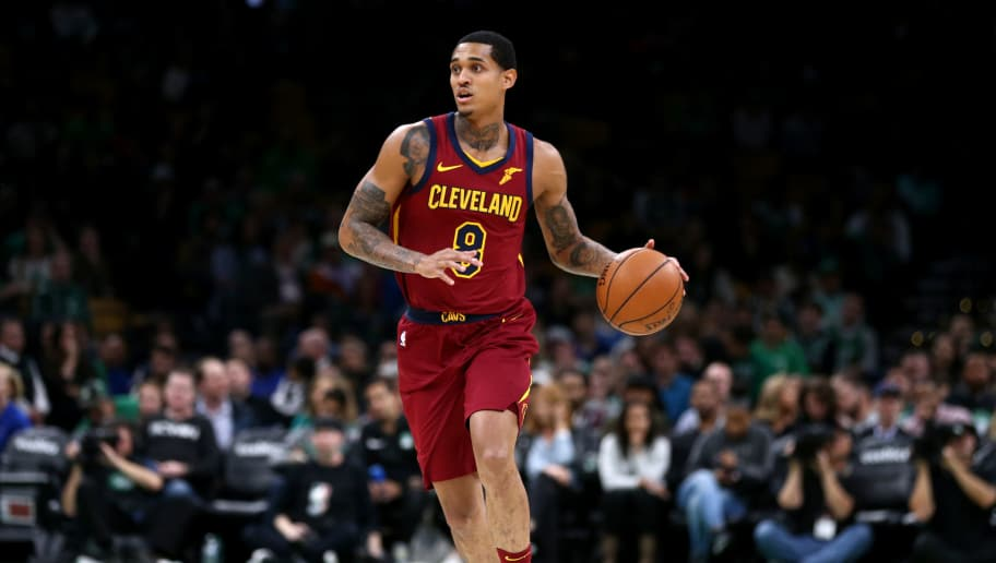 BOSTON, MA - OCTOBER 2: Jordan Clarkson #8 of the Cleveland Cavaliers dribbles during the preseason game against the Boston Celtics at TD Garden on October 2, 2018 in Boston, Massachusetts. (Photo by Maddie Meyer/Getty Images)