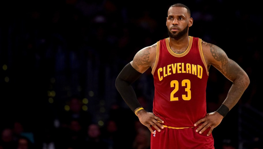 LOS ANGELES, CA - MARCH 19:  LeBron James #23 of the Cleveland Cavaliers waits during a 125-120 win over the Los Angeles Lakers at Staples Center on March 19, 2017 in Los Angeles, California.  NOTE TO USER: User expressly acknowledges and agrees that, by downloading and or using this photograph, User is consenting to the terms and conditions of the Getty Images License Agreement.  (Photo by Harry How/Getty Images)