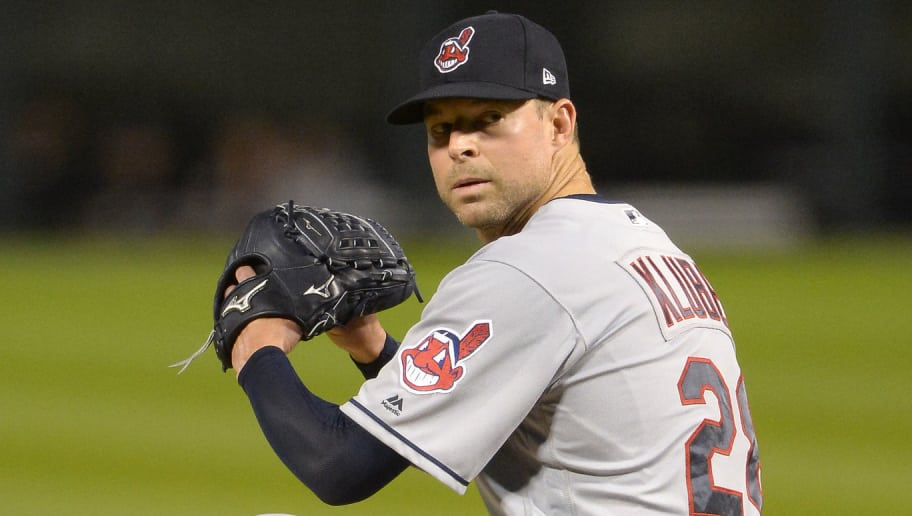 CHICAGO - SEPTEMBER 24:  Corey Kluber #28 of the Cleveland Indians pitches against the Chicago White Sox on September 24, 2018 at Guaranteed Rate Field in Chicago, Illinois.  The Indians defeated the Chicago White Sox 4-0 as Kluber recorded his 20th win of the season.  (Photo by Ron Vesely/MLB Photos via Getty Images)