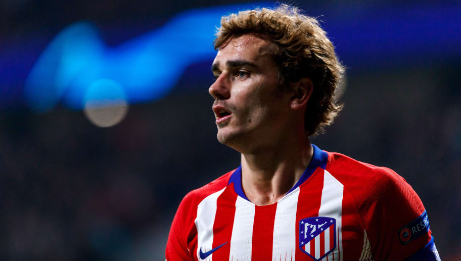 MADRID, SPAIN - NOVEMBER 28: Antoine Griezmann of Atletico de Madrid looks on during the Group A match of the UEFA Champions League between Club Atletico de Madrid and AS Monaco at Estadio Wanda Metropolitano on November 28, 2018 in Madrid, Spain. (Photo by TF-Images/TF-Images via Getty Images)