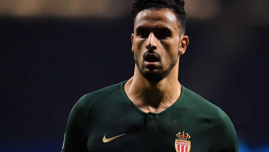 MADRID, SPAIN - NOVEMBER 28: Nacer Chadli of AS Monaco FC runs with the ball during the Group A match of the UEFA Champions League between Club Atletico de Madrid and AS Monaco at Estadio Wanda Metropolitano on November 28, 2018 in Madrid, Spain. (Photo by David Ramos/Getty Images)
