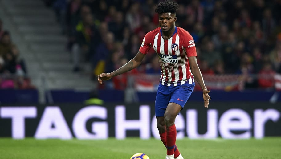 MADRID, SPAIN - NOVEMBER 10:  Thomas Partey of Atletico de Madrid in action during the La Liga match between  Club Atletico de Madrid and Athletic Club at Wanda Metropolitano on November 10, 2018 in Madrid, Spain.  (Photo by Quality Sport Images/Getty Images)