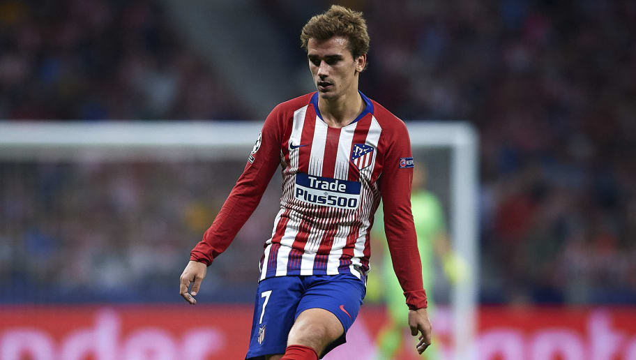 MADRID, SPAIN - OCTOBER 03:  Antoine Griezmann of Club Atletico de Madrid in action during the Group A match of the UEFA Champions League between Club Atletico de Madrid and Club Brugge at Estadio Wanda Metropolitano on October 3, 2018 in Madrid, Spain.  (Photo by Quality Sport Images/Getty Images)
