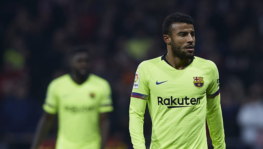 MADRID, SPAIN - NOVEMBER 24:  Rafinha of FC Barcelona looks on during the La Liga match between Club Atletico de Madrid and FC Barcelona at Wanda Metropolitano on November 24, 2018 in Madrid, Spain.  (Photo by Quality Sport Images/Getty Images)