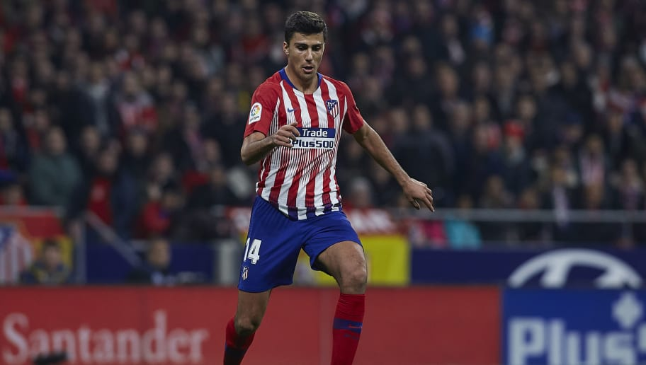 MADRID, SPAIN - NOVEMBER 24:  Rodrigo Hernandez of Atletico de Madrid in action during the La Liga match between Club Atletico de Madrid and FC Barcelona at Wanda Metropolitano on November 24, 2018 in Madrid, Spain.  (Photo by Quality Sport Images/Getty Images)